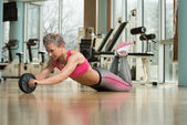 Exercise Whit A Ab Roller — Photo