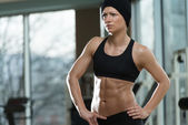 Portrait Of A Physically Fit Young Woman — Stock Photo