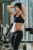 Portrait Of A Physically Fit Muscular Young Woman — Foto Stock