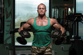 Exercise For Shoulders Dumbbell Lateral Raise — Stock fotografie