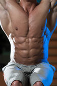 Abdominal Muscle Close-Up — Stock Photo