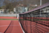 Tennis Court Net and Court Beyond — Stock Photo
