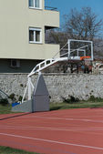Outdoor Public Basketball Court — 图库照片