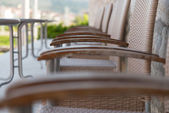 Empty Metal Seats Places In Public Space — Stock Photo