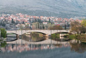 Trebinje Old Bridge On The River Trebisnjica — 图库照片