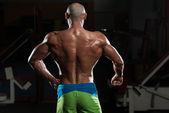 Mature Muscular Man Flexing Muscles — 图库照片