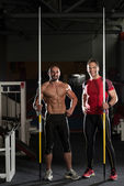 Portrait Of A Physically Fit Men With Javelin — Stock Photo