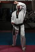 Taekwondo Fighter Pose — Stock Photo