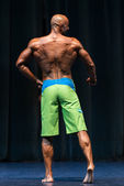 Bodybuilder On A competition For The Win — Stock Photo