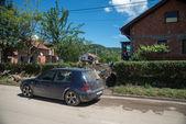 Flood in 2014 - Sevarlije - Bosnia And Herzegovina — Stock Photo