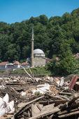 Jusuf Pasina Kurumlija Mosque After Flooding Natural Disaster — Stock Photo