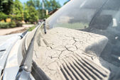 Sludge Left Over in Car Close Up — Stock Photo