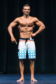 Bodybuilder On A Competition For The Win — Foto de Stock
