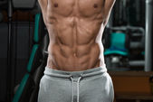 Abdominal Muscle Close Up Shredded To The Bone — Stock Photo