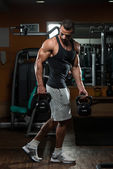 Kettle Bell Workout — Stock Photo