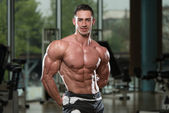 Portrait Of A Physically Fit Muscular Young Man — Stock Photo