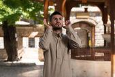 Müslüman camide dua — Stok fotoğraf