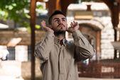 Young Muslim Guy Praying — Foto de Stock