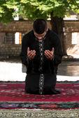 Young Muslim Guy Praying — Stock Photo