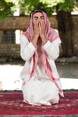 Muslim Praying In Mosque — Stock Photo