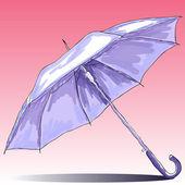 Sketch umbrella. Watercolor illustration. — 图库矢量图片
