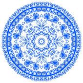 Ornamento mandala azul — Vetor de Stock