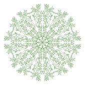 Gröna mandala prydnad — Stockvektor