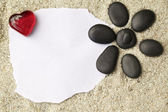 Message on the sand — Stock Photo