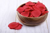 Artificial petals of roses — Stock Photo