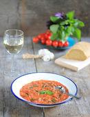 Tomatensuppe teller — Stockfoto