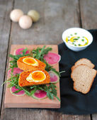 Vegetarian Scotch eggs — Stock Photo