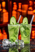 Cucumber cocktail — Stock Photo