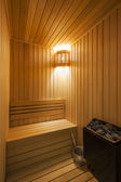 Cozy sauna — Stock Photo