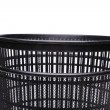 A top plastic trash can close-up — Stock Photo