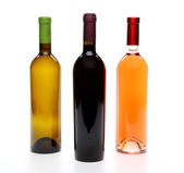 A set of three kinds of wine — Stock Photo