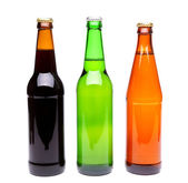 Three bottles of beer — Stock Photo