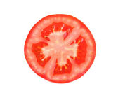 Slice of tomato isolated close-up — Stock Photo