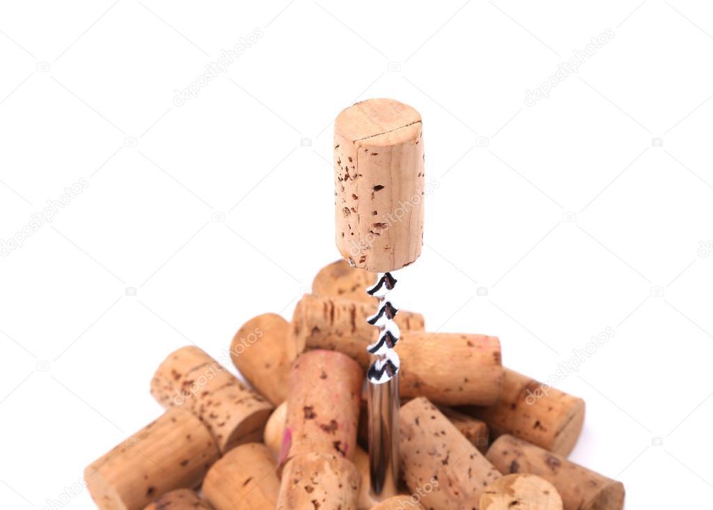 开瓶器和葡萄酒瓶塞