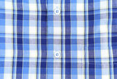 Plaid man shirt, button close-up background — Stock Photo