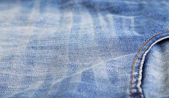 Side pocket classic jeans. Closeup. — Stock Photo