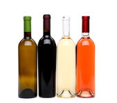 Four kinds bottle of wine — Stock Photo