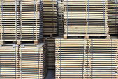 Edged board on pallets — Stock Photo