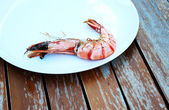 Tiger shrimp cooked on the grill — Stock Photo