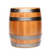Wood barrel isolated — Stock Photo