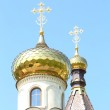 Golden dome of the Orthodox church — Stock Photo #27560981