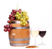 Wine composition is located — Stock Photo