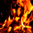 Stock Photo: Blaze fire flame texture on whole background