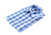 Plaid shirt isolated on the white background — Stock Photo