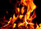 Blaze fire flame texture on a whole background — Stock Photo