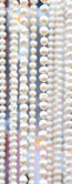Many beads of pearls as ackground. Close-up. — Stock Photo